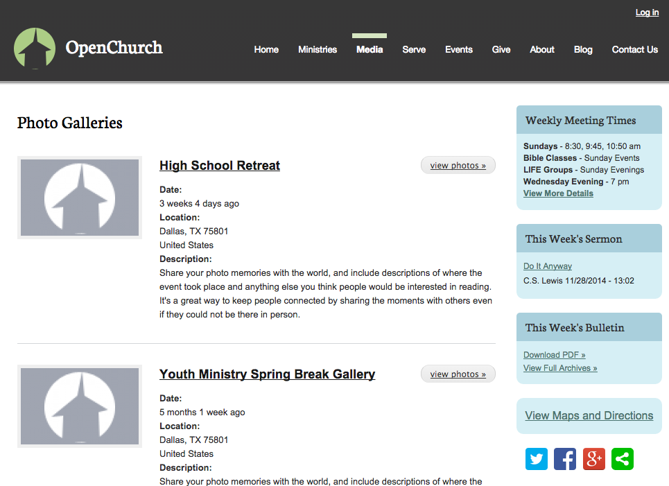 OpenChurch Galleries