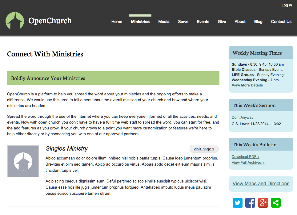 OpenChurch Ministries