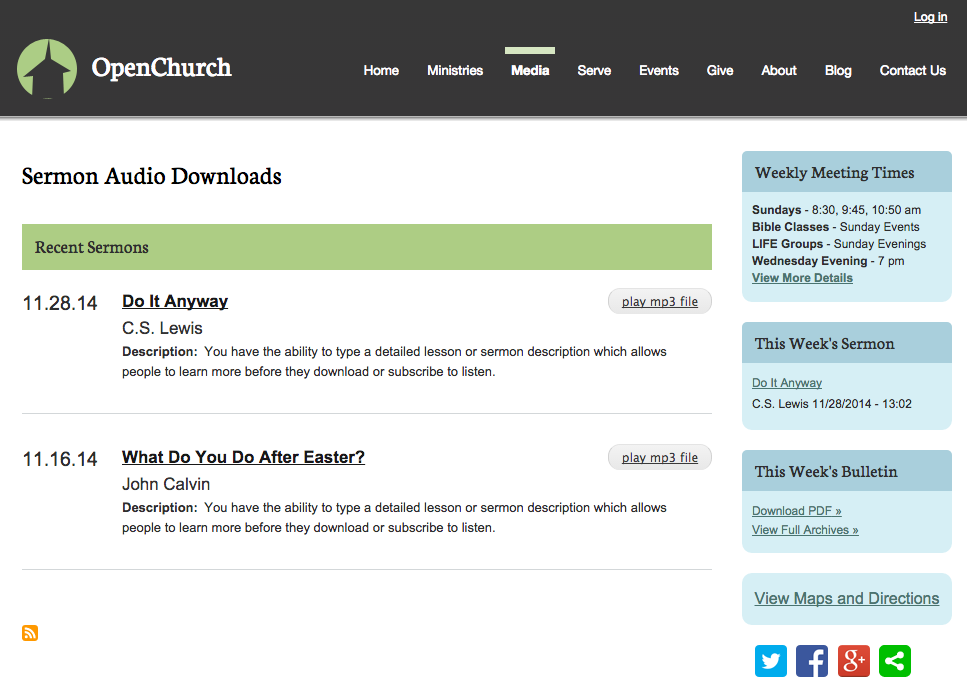OpenChurch Podcasts